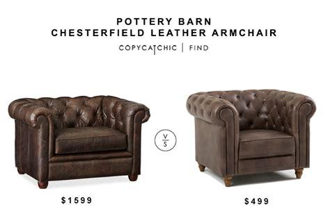 Pottery Barn Chesterfield Leather Armchair