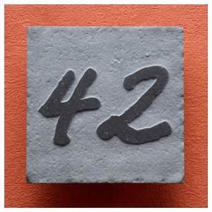Plaque Numero De Rue : plaque carr e num ro de rue en pierre naturelle square 5 ~ Melissatoandfro.com Idées de Décoration