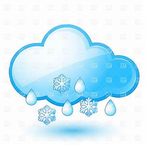 Snow with rain - weather icon and cloud Royalty Free ...