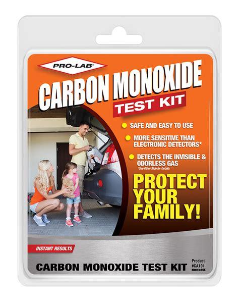 carbon monoxide detector pro lab test kits