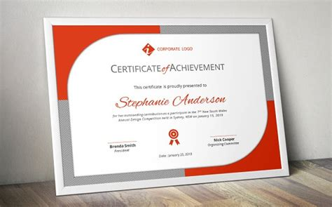 modern certificate template docx stationery templates