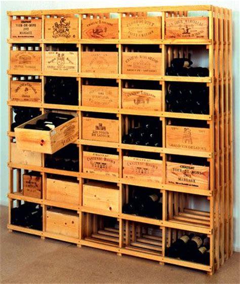 casiers 224 bouteille casier vin rangement du vin am 233 nagement cave casier bois diy