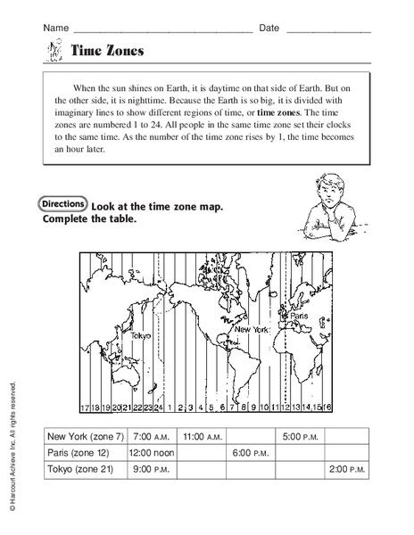 time zone worksheets grade 6 24 worksheet