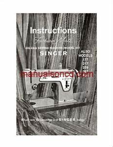 Singer 237 Sewing Machine Instruction Manual