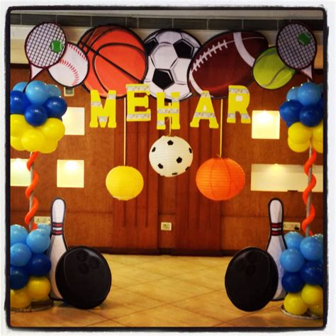 sports theme party hosting happinez sports party