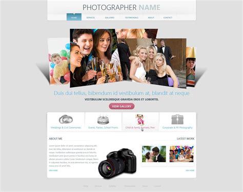 photographer website template  photography web