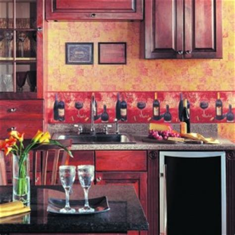 Kitchen Borders Ideas - wall paper border ideas for a personalized kitchen