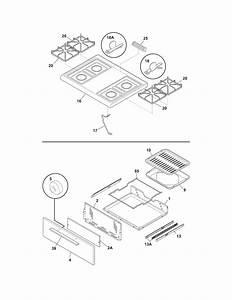 Frigidaire Model Ffgf3011lwc Free Standing  Gas Genuine Parts