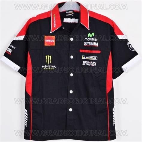 jual kemeja bordir otomotif motogp yamaha movistar hitam 2016 2017 di lapak grade original