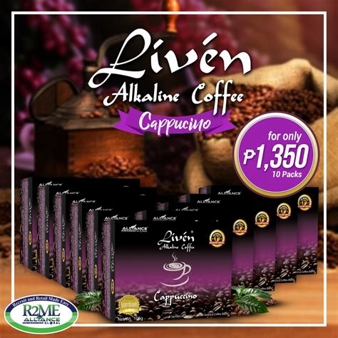 Liven alkaline coffee is high quality regarded for its distinct taste and aroma because it is made of the finest class of arabica coffee. Liven Coffee - Cappucino - AIMGlobalOnline.net Shop