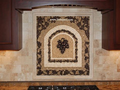 mosaic tile backsplash kitchen ideas grapes mosaic tile medallion kitchen backsplash mural