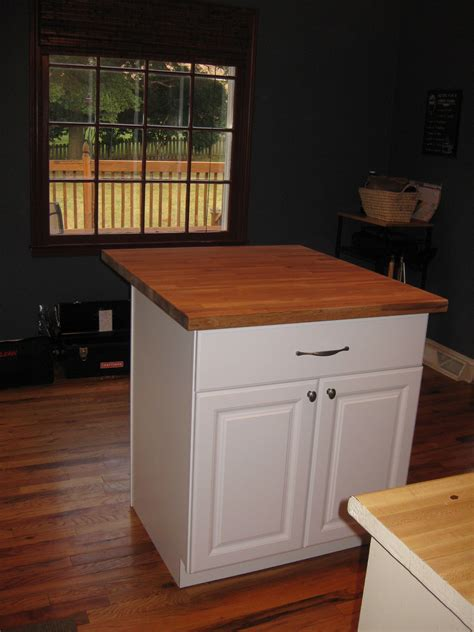 kitchen island small simple small kitchen island diy with chalk color and wooden countertop plus chic two drawers
