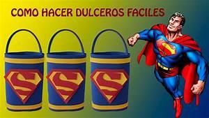 COMO HACER DULCEROS DE SUPERMAN FACIL/COTILLONES SENCILLOS y ECONOMICOS YouTube