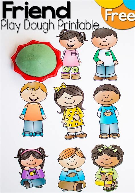 free friends play dough printable friendship theme 147   4e70fe95807bb13276c9231461b16daf