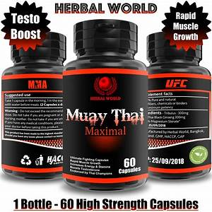 60 Muay Thai Capsules Strong Anabolic Mass Bodybuilding Supplement Muscle Gains
