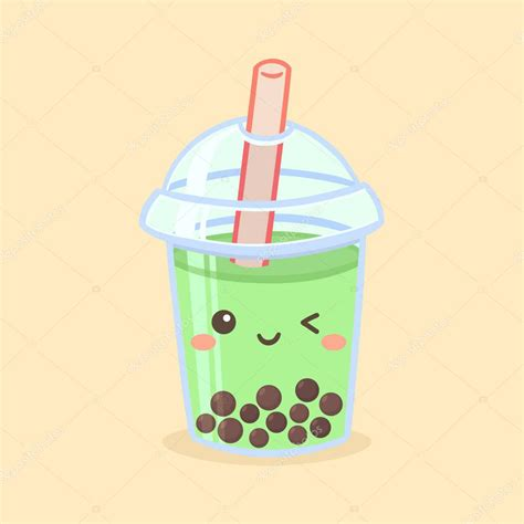 Augustoalgusto offer daily download for free, fast and easy. Cute Boba Bubble Green Tea Drink Plastic Glass Vector ...