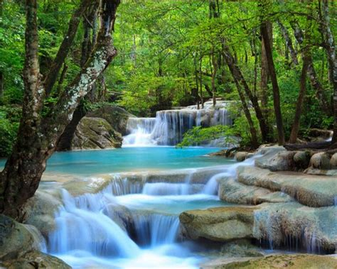 beibehang natural landscape waterfall photo wallpaper