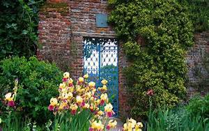 English Manor garden scenery wallpaper 3 - Landscape ...