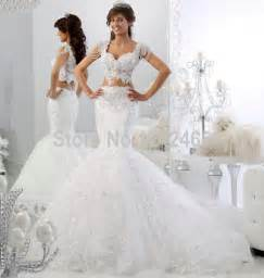 robes de mariage cap sleeve robe de mariage bridal dress mermaid v neck appliqued 2 wedding dresses