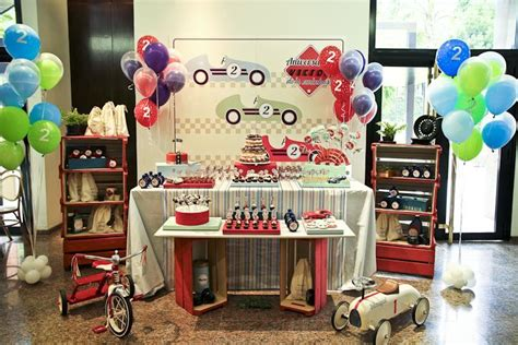 karas party ideas vintage race car themed birthday party