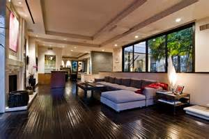 modern homes interiors big contemporary house with interior filled with