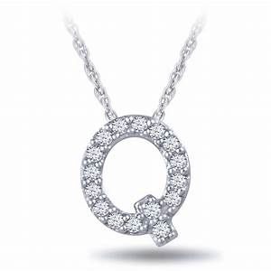 Diamond Initial Pendant 14K Letter 'Q' | Ben Bridge Jeweler