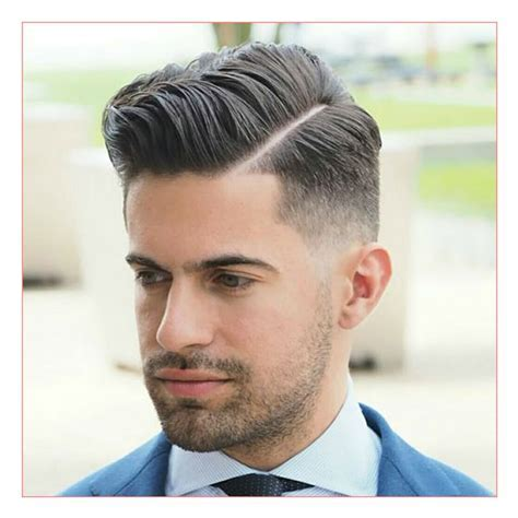 Hot Mens Hairstyles 2014 also Mid Fade with Hard Side Part