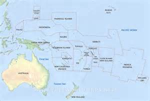 Oceania Physical Features Map