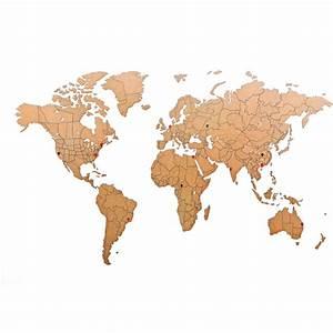 Carte Du Monde En Bois : puzzle carte du monde en bois d co do it yourself ~ Nature-et-papiers.com Idées de Décoration