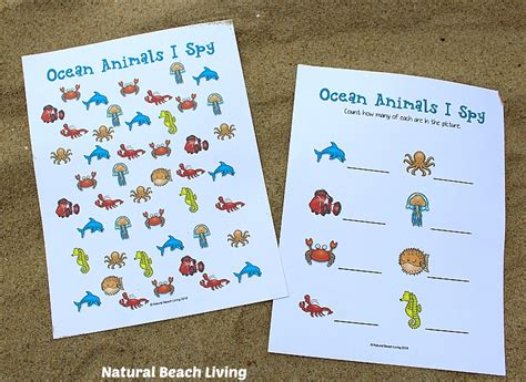 the best animals preschool activities and printables 765 | ocean animals 3