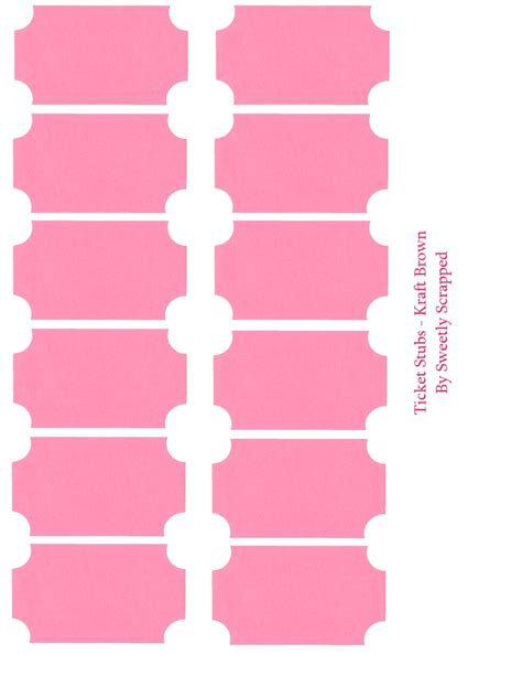 Ticket Stub Template Pink And Blue by Ticket Stubs Sweetly Scrapped S Free Printables Digi S
