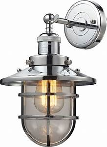 elk 66346 1 seaport nautical polished chrome sconce With nautical wall sconce