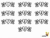 Valentine Hearts Print Numbers Alphabets Letters Coloring Chart Pages Alphabet Template Yescoloring Boys Lovin sketch template