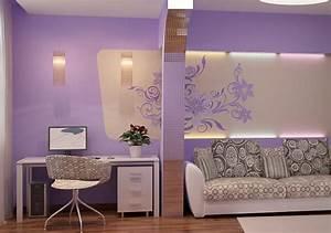 Wohnzimmer Ideen Wand : wand streichen ideen in hell lila freshouse ~ Michelbontemps.com Haus und Dekorationen
