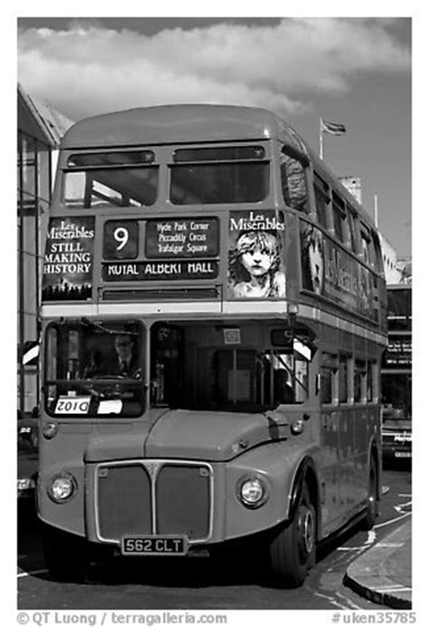 Black and White Picture/Photo: Routemaster double decker