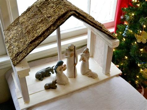 diy nativity stable  beginning    lot