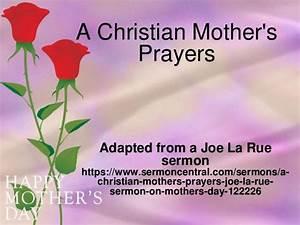 A Christian Mother's Prayers