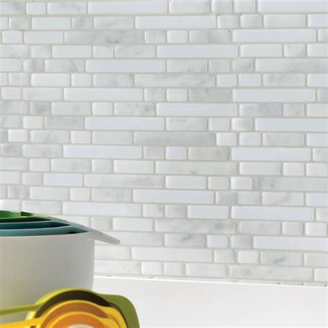 smart tiles mosaik 10 quot x 10 quot subway tile in white gray