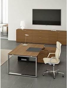 Bureau Avec Rangement : delex mobilier bureau de direction avec desserte de rangement loopy ~ Teatrodelosmanantiales.com Idées de Décoration