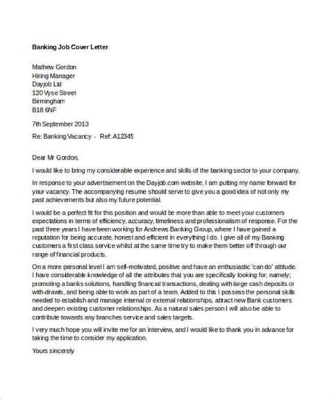 cover letter  bank jobdoc sample cover letters