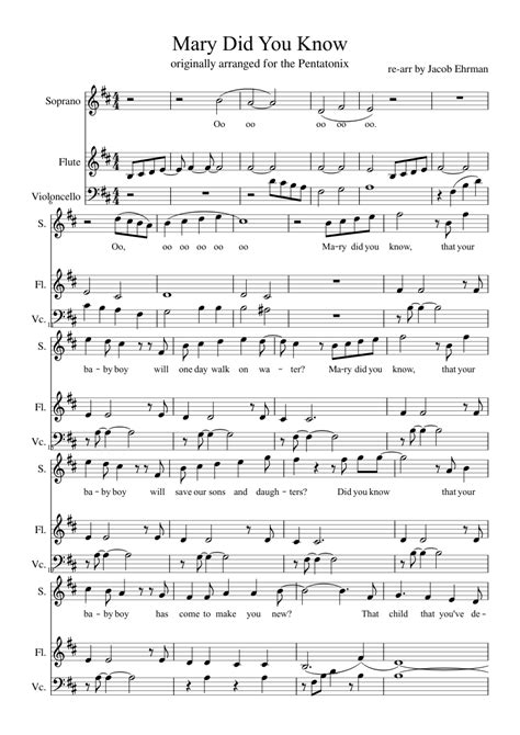 Gm f mary, did you know that your baby boy cm d would calm the storm with his hand cm f bb f/a gm did you know that your baby boy has walked where angels trod? Mary did you know? for voice, flute, and cello sheet music for Flute, Voice, Cello download free ...