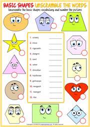 shapes esl vocabulary worksheets