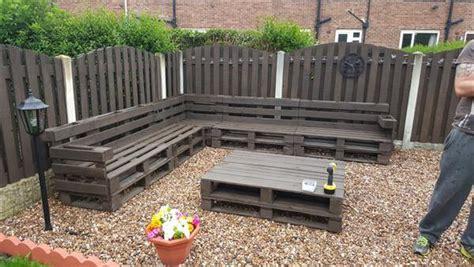 diy outdoor furniture made from pallets diy pallet patio corner sofa set 101 pallets 45691