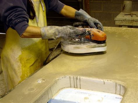 Polishing Countertops by Diy Concrete Countertops How They Are Made The