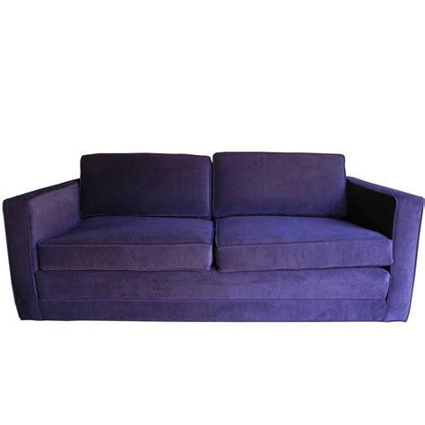 Purple Settee Sofa by Mid Century Modern Purple Velvet Sofa Settee By Charles