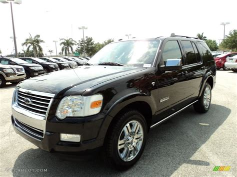 black  ford explorer limited exterior photo
