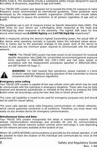 Safetracks Gps Canada Triloc01 Triloc Gps Locator User Manual