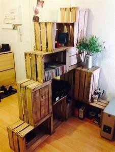 Caisse De Pomme : 17 best images about meubles caisses palettes on pinterest du bois crates and armoires ~ Teatrodelosmanantiales.com Idées de Décoration