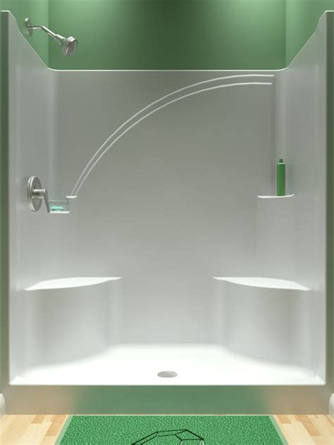 fiberglass shower enclosures  seat kits diy prestige