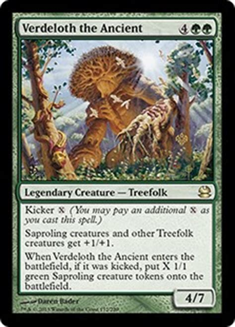 Treefolk Deck Mono Green by Verdeloth The Ancient Modern Masters Gatherer Magic